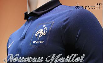 Nouveaux Maillot de L'equipe de France 2011-2012 .