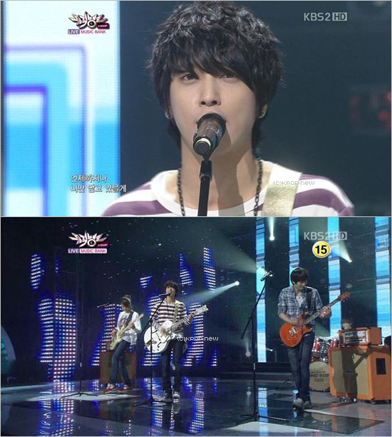 "29.04.11|Les CNBLUE performent sur ""Love Girl"""