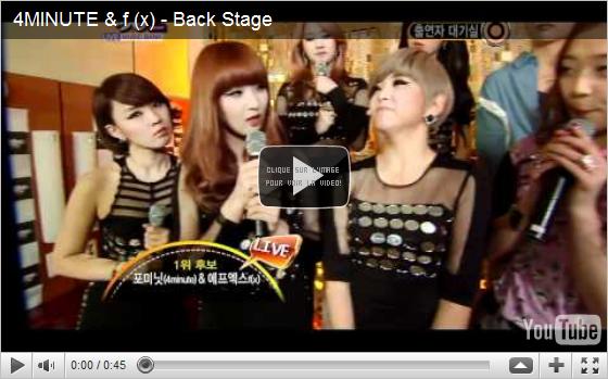 28.04.11|Les f (x) remportent K-Chart sur Music Bank (+) autres représentations