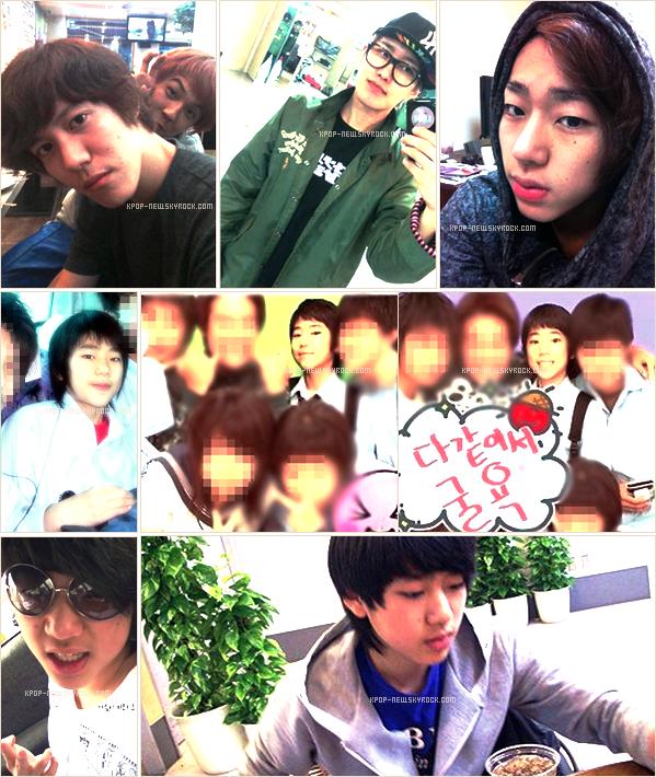 Petits cadeaux envoyés par une fan à U-Kwon | Photos personnelles de B-Bomb et Zico, pré-début de Kyung et Zico ๑