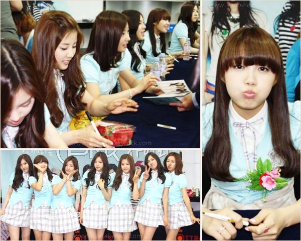 A-Pink @ différents fansign : Ilsan & Mokdong le 7 et 8 Mai | Elles sont rayonnantes et très mignonnes sur les photos ๑