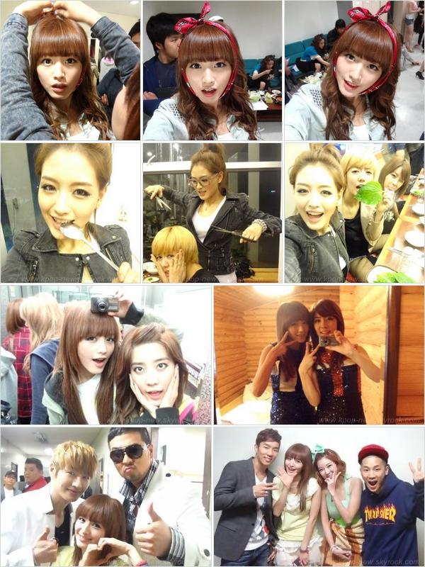Photos Selca postées par notre leader des Rainbow, JaeKyung.