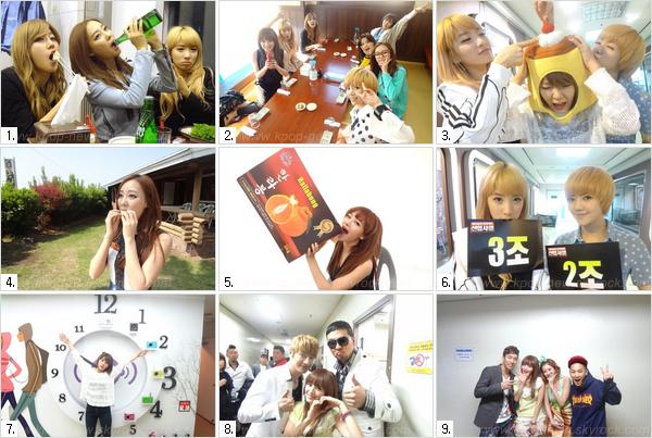 JiSook nous montre à travers des photos postées sur Selca leur quotidien très occupé