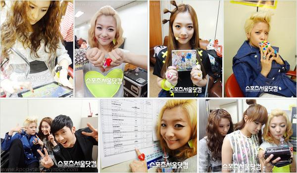 Photos backstage @Music Bank le 15 Mai | Quelques photos de Krystal, pour l'émission KBS Kiss & Cry -Comment la trouver-vous?