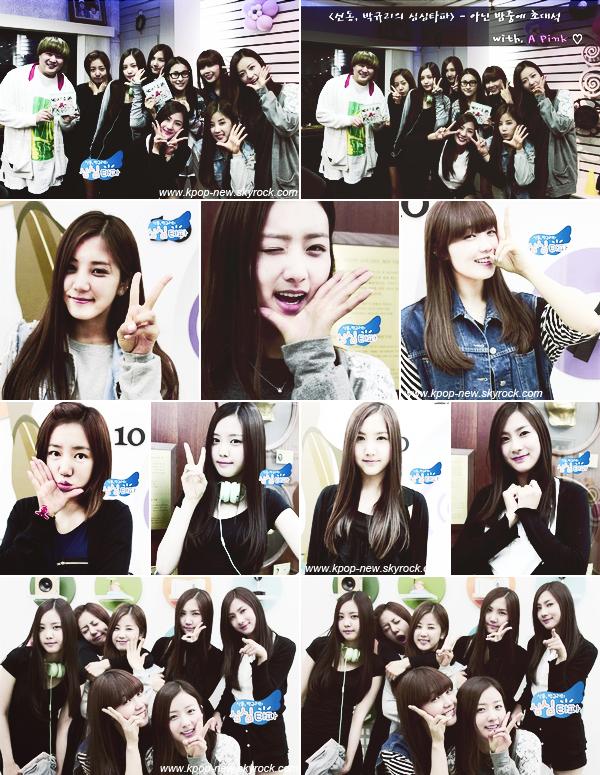 A-Pink sur MBC ShimShimTaPa aux côtés de ShinDong & GyRui
