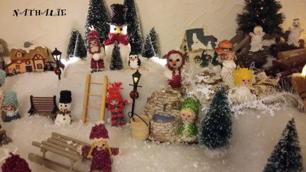 décorations de Noel sur 1 mètre 60 de longueur