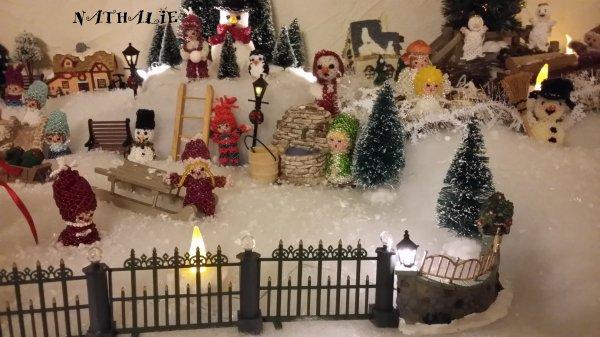 Mon village de Noel comme tous les ans avec à chaque année un décor différent en détails