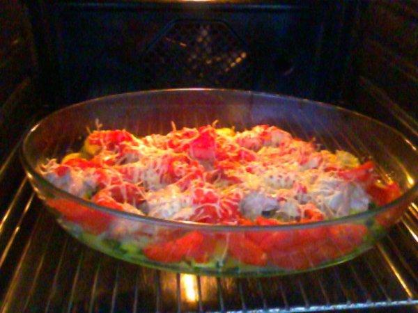 Gratin au poulet et aux légumes du soleil
