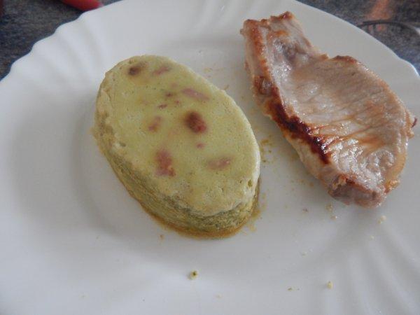 Flan à la laitue et aux lardons
