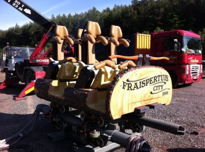 Les premiers wagons du timber drop sont arrivés