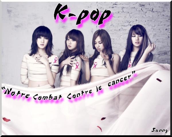 """La page facebook k-pop : """"Notre combat contre le cancer"""