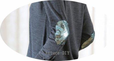Customiser son pull avec des coudières