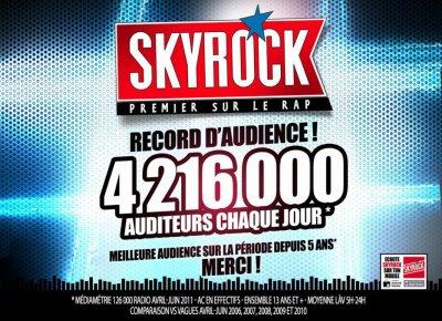 Skyrock cartonne! 1ère radio musicale à Paris/Idf