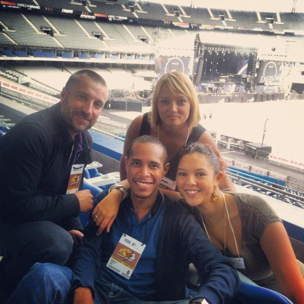 Avec la team Skyrock au Stade de France
