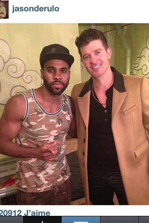 (Photo) Jason Derulo et Robin Thicke