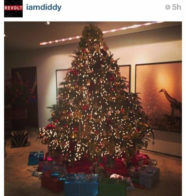 Le sapin de Noël de Diddy