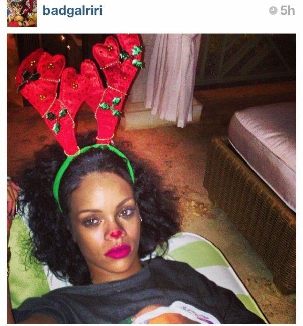 Rihanna en mode Noël