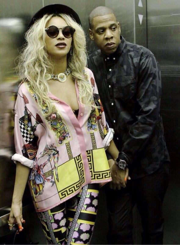 Beyonce et Jay-z (La class même dans un ascenseur)