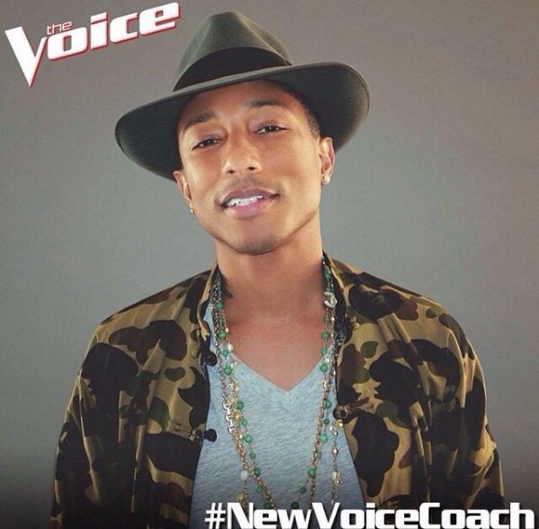 Pharrell nouveau coach #TheVoice Us