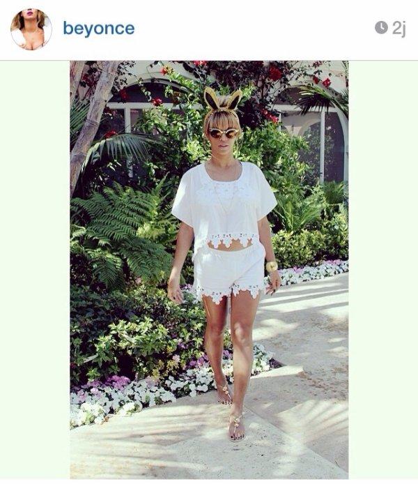 Beyonce reste class même en mode Pâques