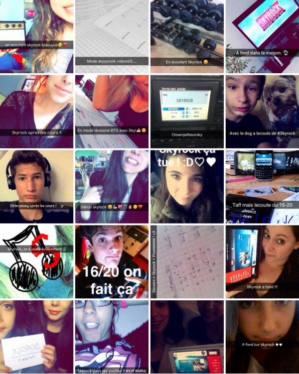 Les auditeurs du 16-20 sur snapchat!