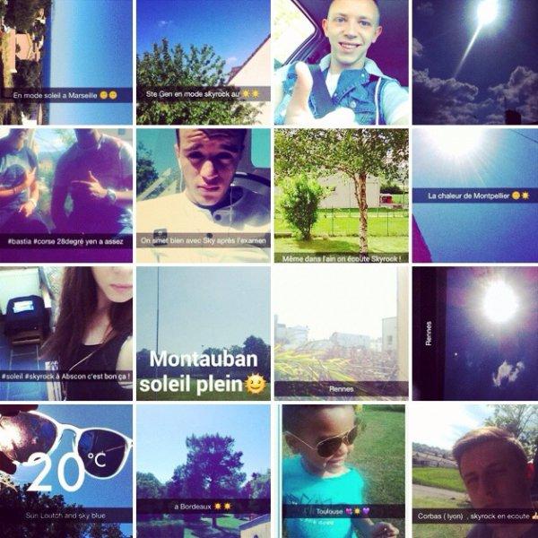 Les auditeurs du 16-20 sur snapchat profitent du soleil !