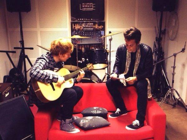 (Photo) @Nekfeu1995 en studio avec Ed Sheeran! Le titre à 19h sur #Skyrock ! Soyez prêts!