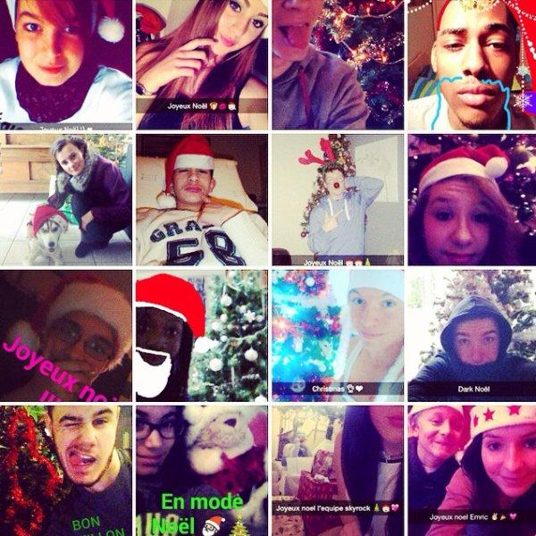 Mosaïque des auditeurs du 16-20 en mode #Noël