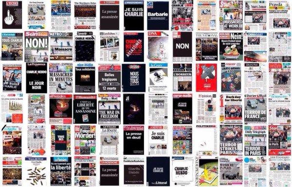 72 unes de Presse ce jeudi #CharlieHebdo