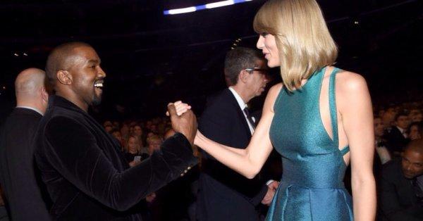 Taylor et Kanye aux grammy
