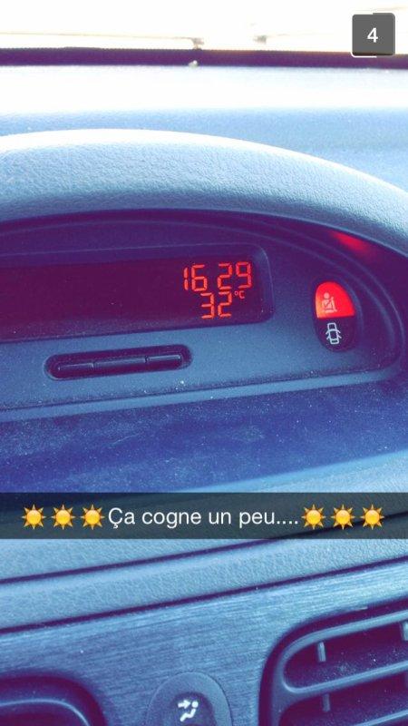 Seb de vichy dans la voiture écoute le 16-20 et la température est de ...
