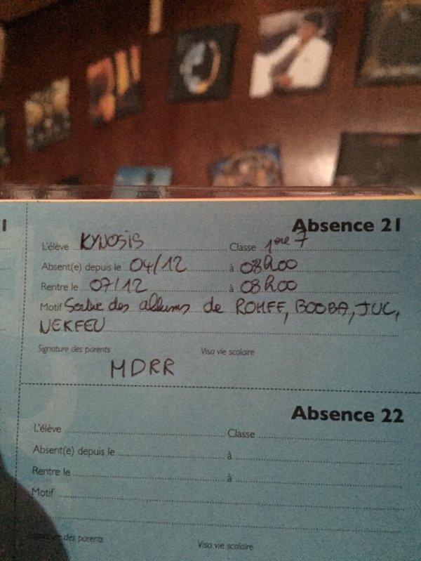 Kynosis auditeur du 16-20 va sécher les cours à cause de ...