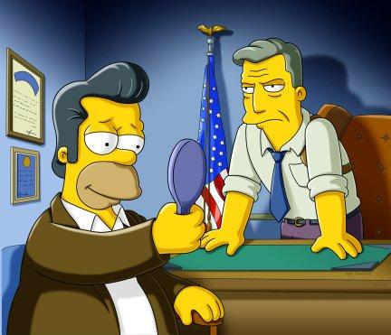 Homer Avec Des Cheveux