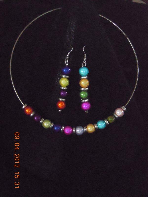 parure perles magiques multicolores