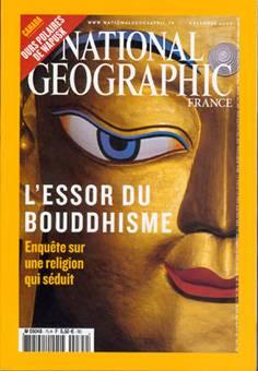 L'ESSOR DU BOUDDHISME  paru dans le National Geographic du mois de décembre 2005