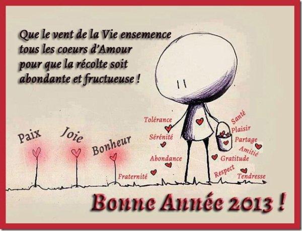 SOUHAITS EN 2013