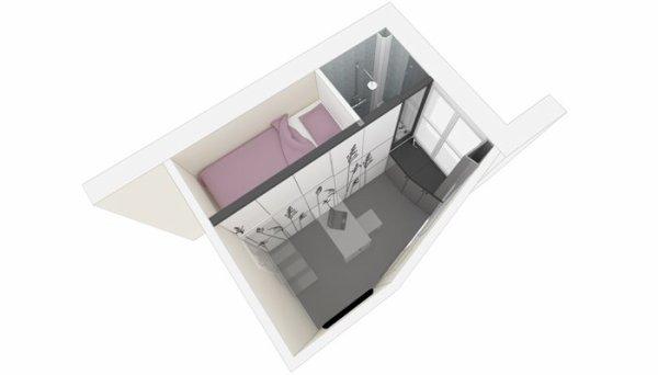 ARCHITECTURE D'INTERIEUR: L'ART DE VIVRE SUR 8M2