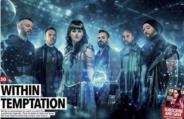 Within temptation dans MetalHammer | Within Temptation est définitivement de retour ! Voici un nouveau photoshoot que le groupe a realisé !
