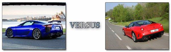 Duel : Lexus LFA VS Ferrari 599 GTO