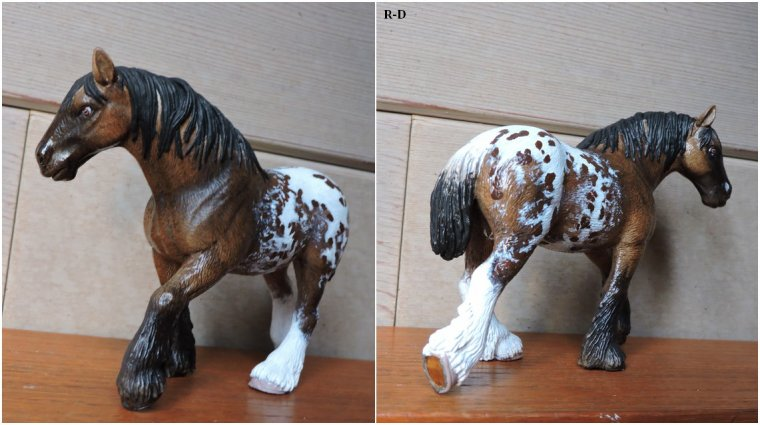 Custom jument clydesdale Schleich