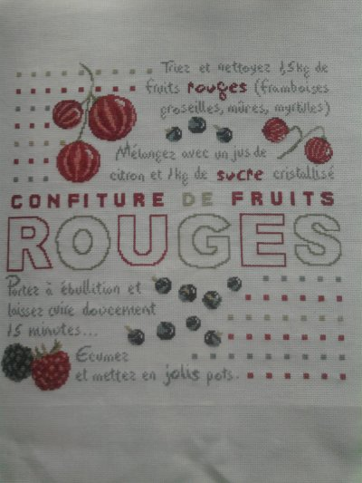 """confiture de fruits rouge"" terminer"