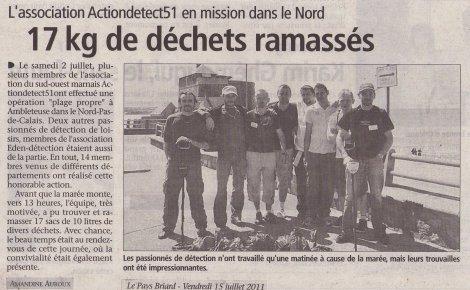 Petite article concernant la sortie d'Ambleteuse du 02 juillet 2011 (1ere sortie organisé)