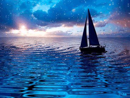 envie de voyager sur une mer bleu