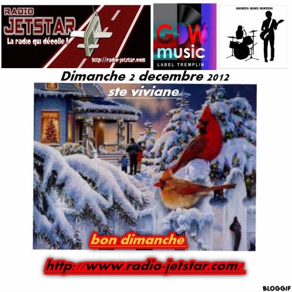DIMANCHE 2 DECEMBRE 2012