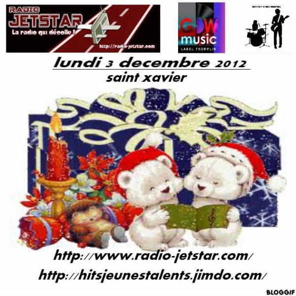 LUNDI 3 DECEMBRE 2012