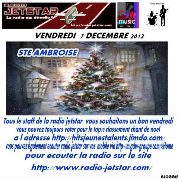 VENDREDI 7 DECEMBRE 2012