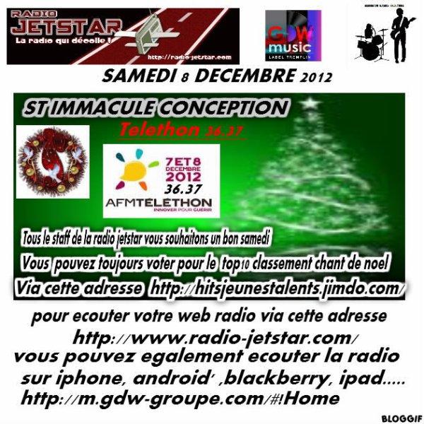 SAMEDI 8 DECEMBRE 2012