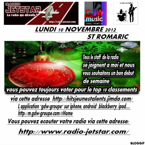 LUNDI 10 DECEMBRE 2012
