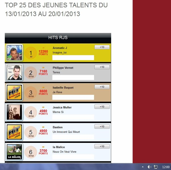 TOP25 DECOUVERTE RJS