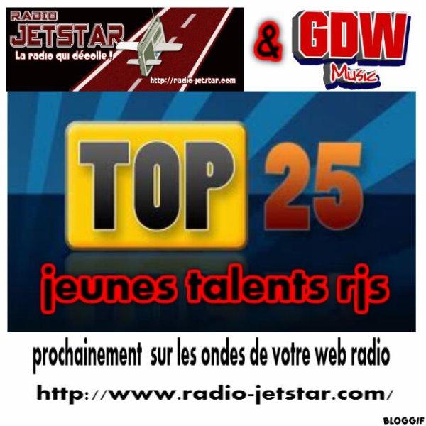 TOP CLASSEMENT  25 JEUNES TALENTS  RJS DU 21 JANVIER  2013 AU 27 JANVIER 2013